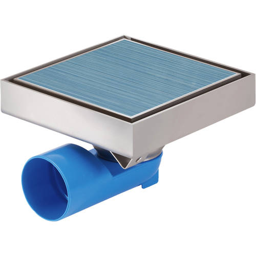 Additional image for Shower Tile Drain 146x146mm (Stainless Steel).