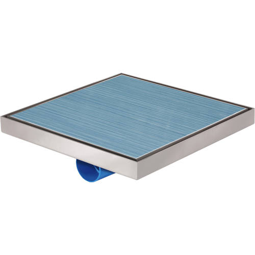 Additional image for Shower Tile Drain 396x396mm (Stainless Steel).
