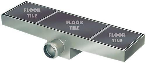 Additional image for Shower Tile Channel 910x300mm (Stainless Steel).
