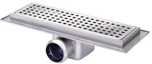 Additional image for Rectangular Wetroom Shower Channel, Side Outlet. 300x100mm.
