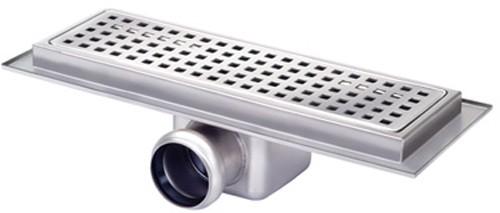Additional image for Rectangular Wetroom Shower Channel, Side Outlet. 400x100mm.