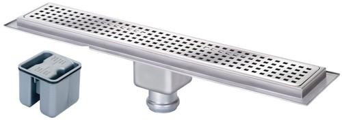 Additional image for Rectangular Wetroom Shower Channel, Bottom Outlet. 700x100mm.