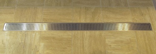 Additional image for Rectangular Wetroom Shower Channel, Bottom Outlet. 700x100mm.