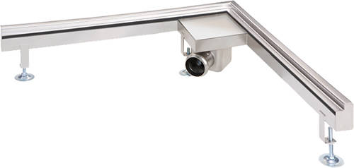 Additional image for Corner Wall Channel Gully 1000x1000 (Stainless Steel).