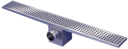 Additional image for Rectangular Wetroom Shower Drain With Side Outlet. 1100mm.