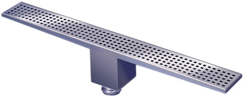 Additional image for Rectangular Wetroom Shower Drain, Bottom Outlet. 1400mm.
