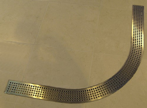 Additional image for Quadrant Wetroom Shower Drain With Side Outlet. 1000mm.