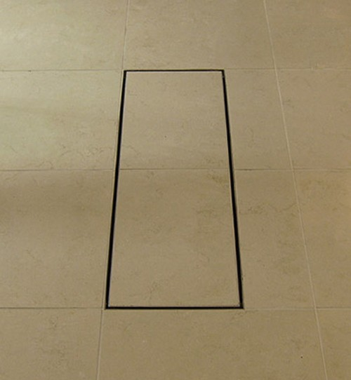 Additional image for Stainless Steel Wetroom Tile Channel With Side Outlet. 910mm.