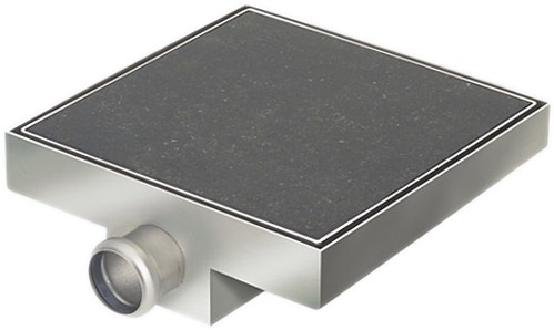 Additional image for Stainless Steel Wetroom Tile Gully With Side Outlet. 150mm.
