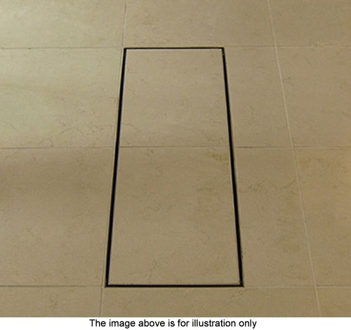 Additional image for Stainless Steel Wetroom Tile Gully With Side Outlet. 300mm.