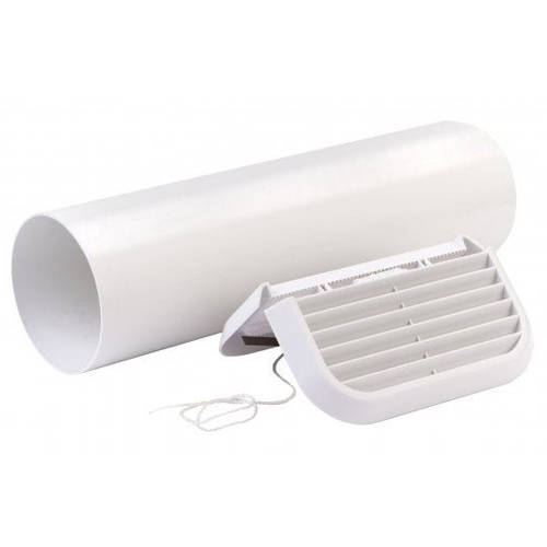 Additional image for Easy Fit Extractor Fan Wall Kit With White Grill (100mm).