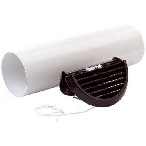 Additional image for Easy Fit Extractor Fan Wall Kit With Brown Grill (100mm).