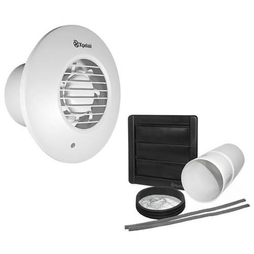 Additional image for Extractor Fan With Timer & Humidistat (100mm).