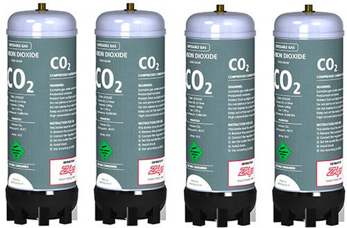 Additional image for 4 x CO² Replacement Cylinders.